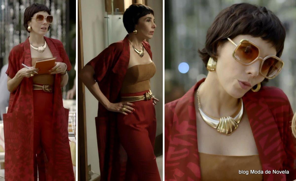 moda da novela Boogie Oogie - look da Leonor dia 6 de agosto