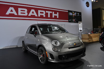 US Fiat 500 Abarth in Grigio