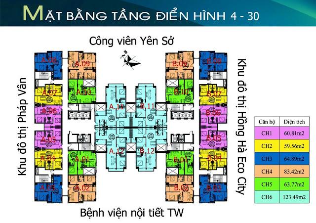 Thông tin căn hộ tứ hiệp plaza