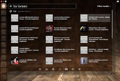 Unity News Lens su Ubuntu