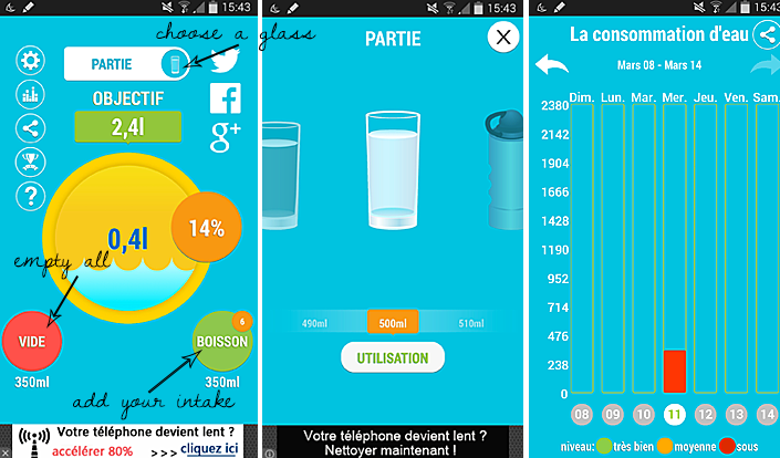 smartphone app, app to drink more water, how to drink more, estimate daily water intake, hydrating body