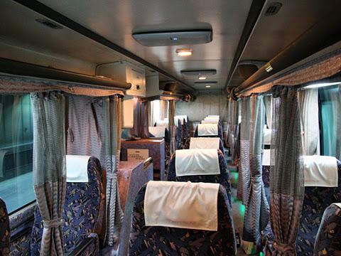 名鉄バス「どんたく号」 車内