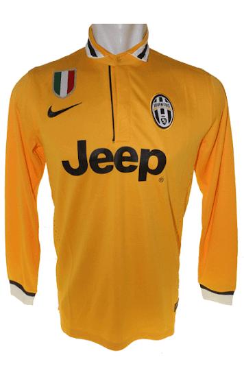 Jual Jersey Juventus Away Lengan Panjang Warna Kuning