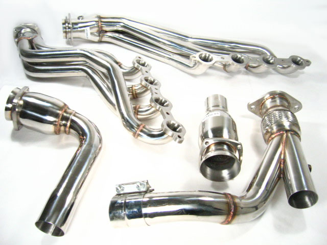 OBX Exhaust Header 06 07 08 09 Trailblazer SS 6 0L Full Length Stainless Steel