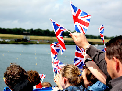 Flags at the London Olympics Rowing