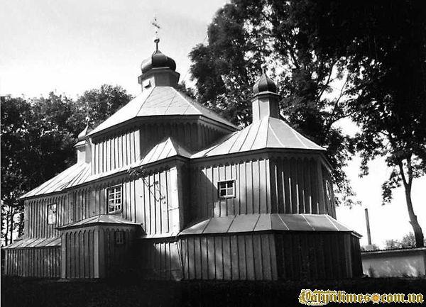 церкви Косьми і Деміана в с.Розваж. 1991 р. 24 серпня. Фото М.І.Жарких