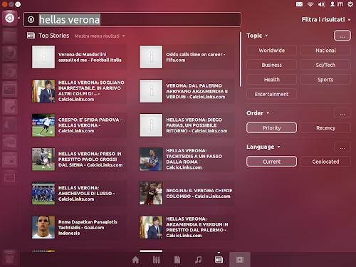 Unity News Lens su Ubuntu 12.04