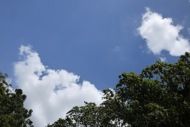 blue sky with clouds in Melaka, Malaysia
