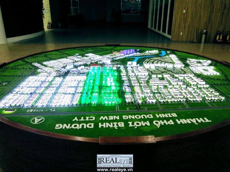 Mô hình kiến trúc REALEYE - Thành Phố Mới Bình Dương