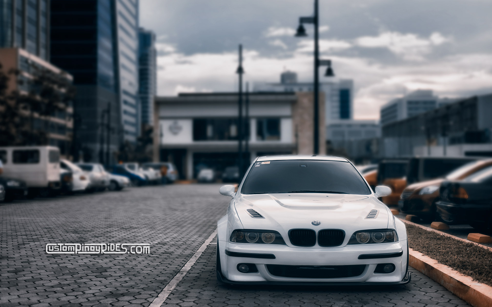 Wallpaper Wednesdays: Airbagged Stormtrooper BMW M5 Custom Pinoy Rides Car Photography Philip Aragones