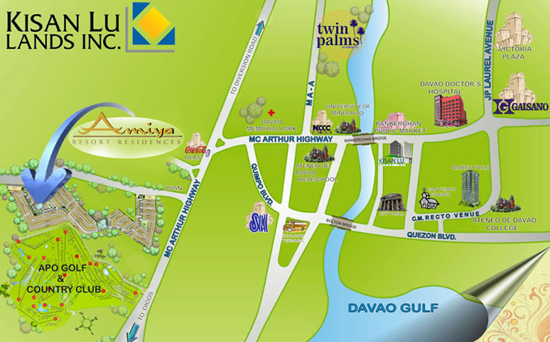 Amiya Resort Residences Vicinity Map