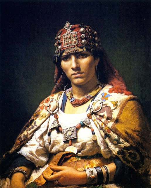 Frederick Arthur Bridgman - Aicha, Woman of the Kabylia Mountains