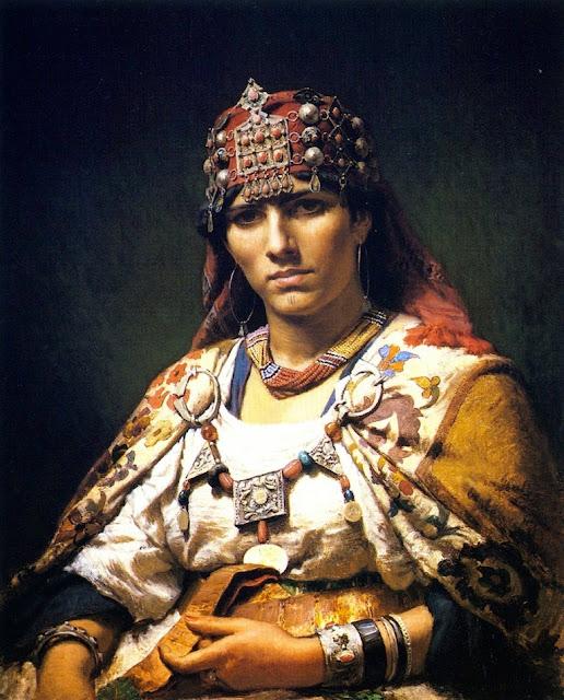Frederick Arthur Bridgman - Aicha, Woman of the Kabylia Mountains