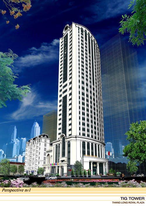 Phối cảnh dự án Thăng Long Royal Plaza