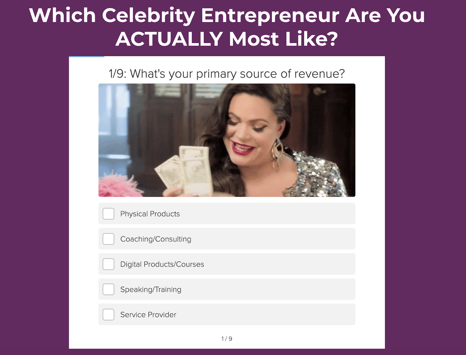 Which celebrity entrepreneur are you most like quiz cover