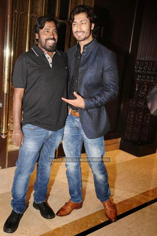 R.D Rajasekar and Vidyut Jamwal during the birthday celebration, held at The Leela Palace, in Chennai.