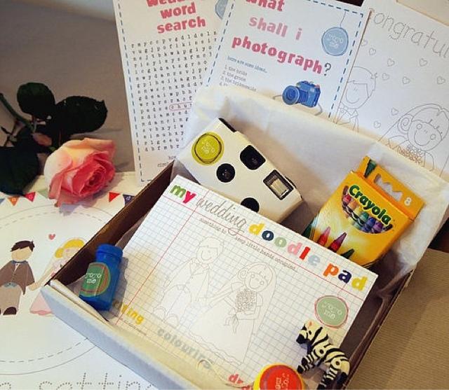 Kit infantil para regalar a niños en una boda