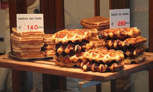 Bruselas Valonia: Gofres belgas con chocolate belga o con frutas