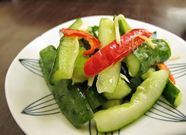 >小黃瓜冷盤 NT.30元-南門蒸餃
