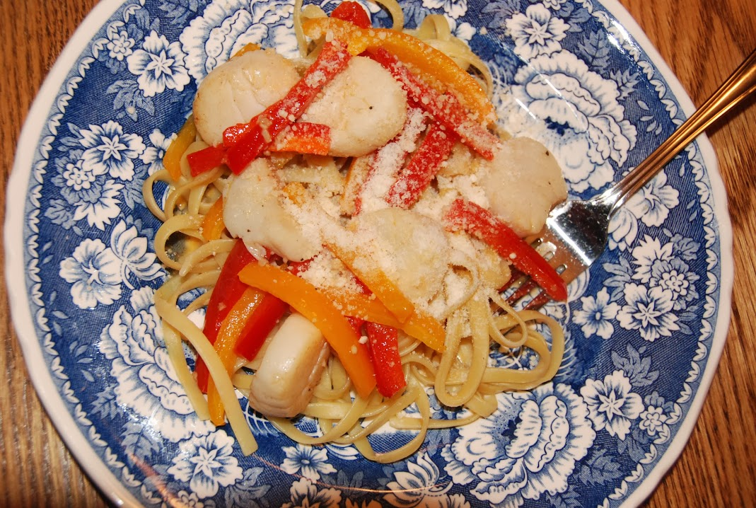 Scallops and Peppers