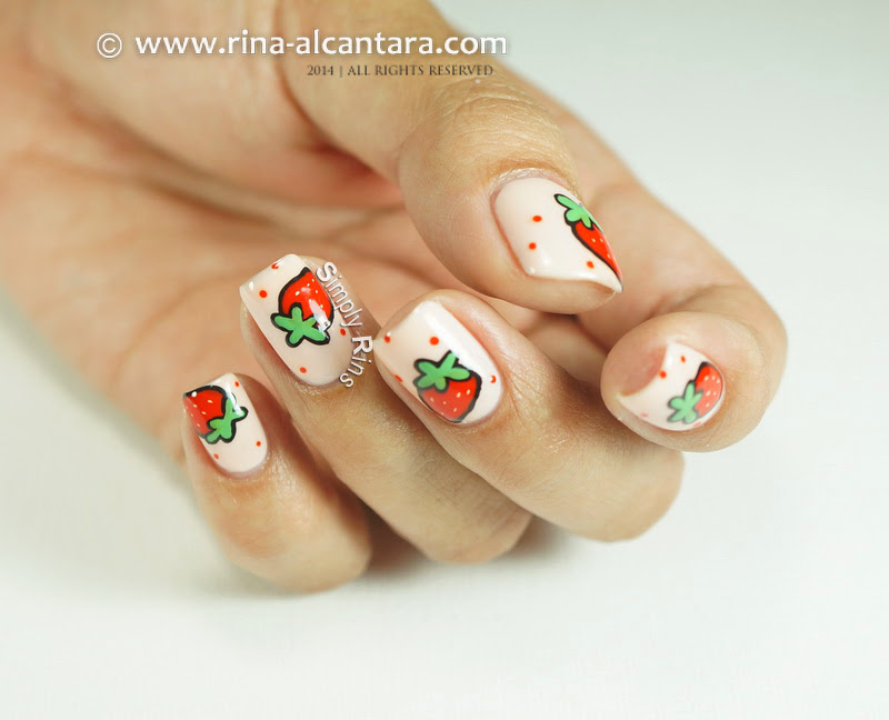 Strawberry and More Strawberries Nail Art