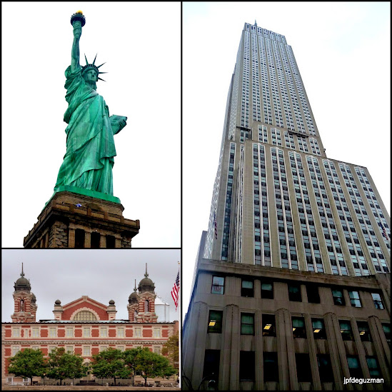 Ellis Island, Statue of Liberty, Empire State Building