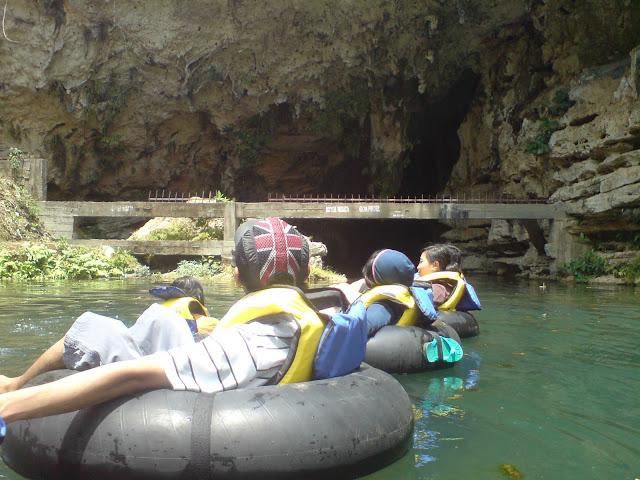 Cave tubing inside Goa Pindul