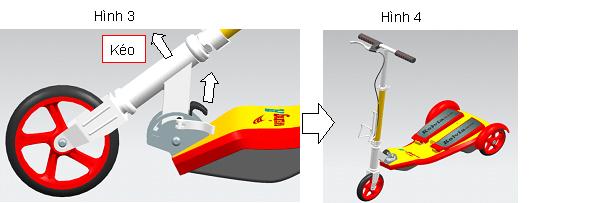 Xe trượt scooter đạp chân Wing A 12