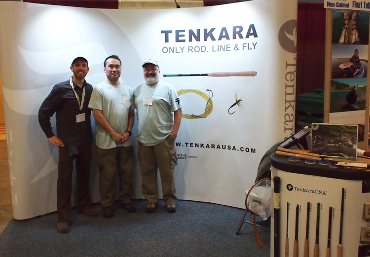 Tenkara USA booth at Pleasanton Fly Fishing Show