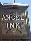 Angel Inn Pub Sign victorian clear & black stained glass
