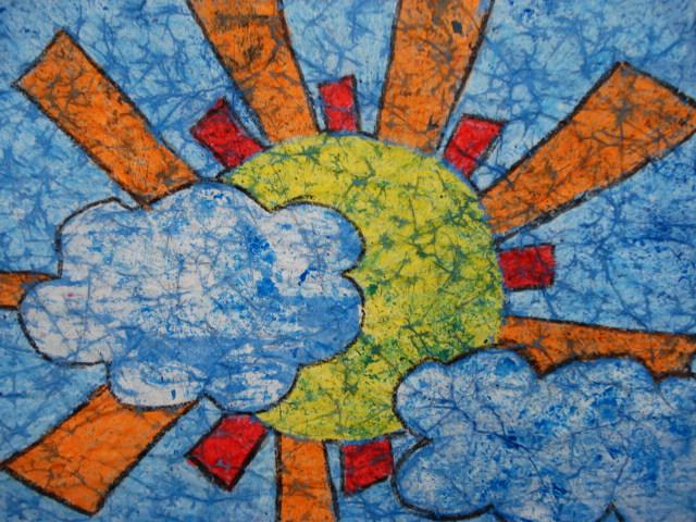A Faithful Attempt Wax Crayon Batik