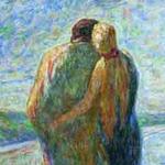Zwei am Meerstrand - Emil Nolde