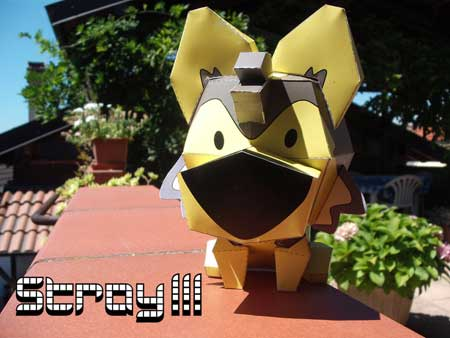 Stray Dog Paper Toy