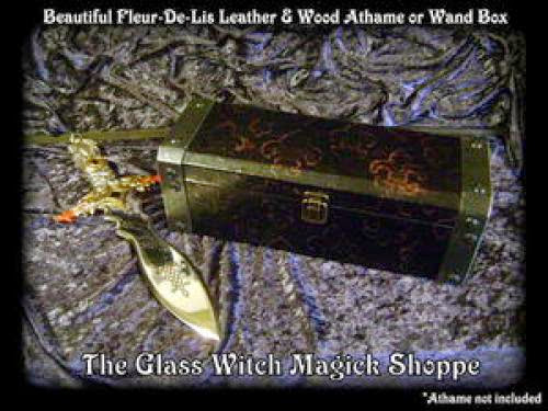 Beautiful Fleur De Lis Leather And Wood Athame Or Wand Box 26 00