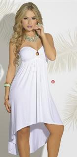 Vestido blanco cola de pato