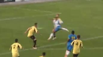 Ridiculous backheel golazo: Bubacar Njie Kambi (Espanyol B) vs Montanesa