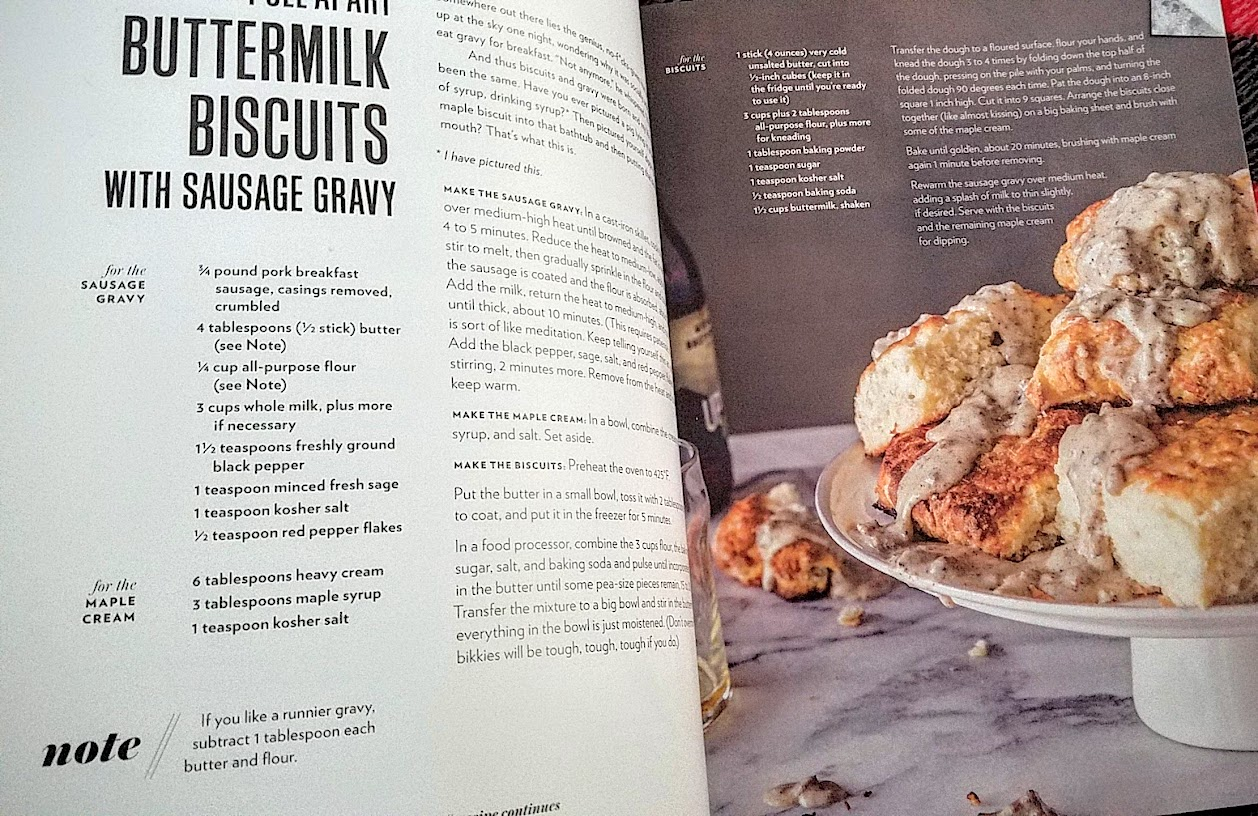 Cravings by Chrissy Teigen cookbook recipe, Pull Apart Buttermilk Biscuits with Sausage Gravy