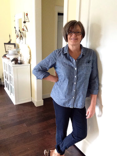 Fashion for fifty somethings, denim shirt