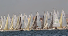 International J/80 one-design sailboats- sailing Worlds