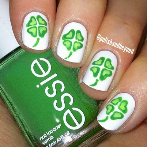 Polish And Beyond Four Leaf Clover Nails