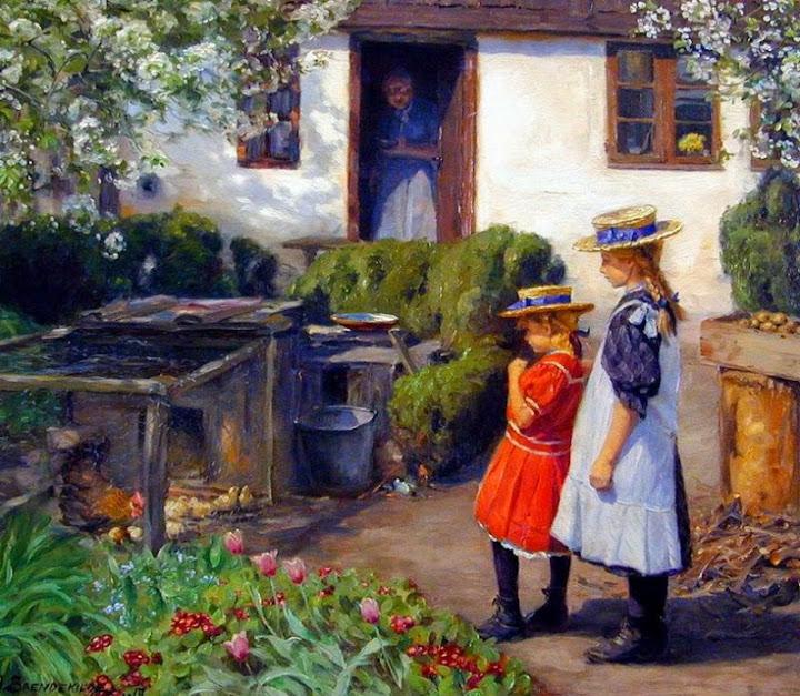 Hans Anderson Brendekilde - Watching the chicks