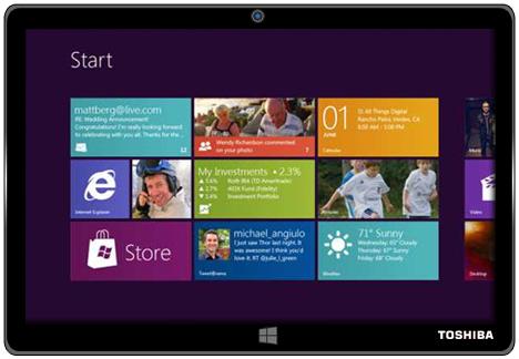 Toshiba Windows RT tablet demonstrated