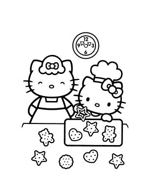 Coloriages a Imprimer : Hello kitty coloriages