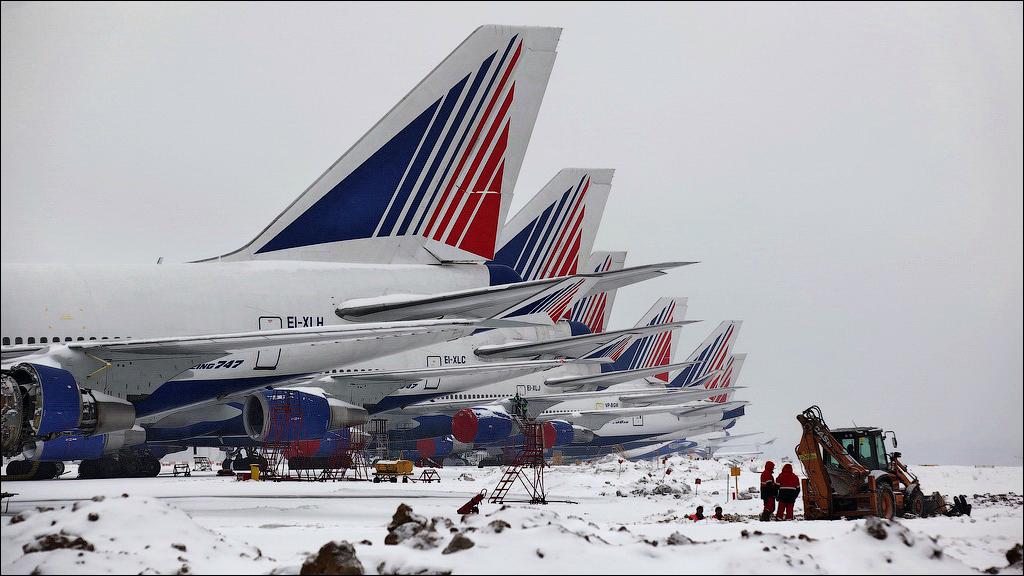 Домодедово Споттинг февраль 2014 DME Domodedovo Plainspotting Боинг-747 Boeing-747 JumboJet
