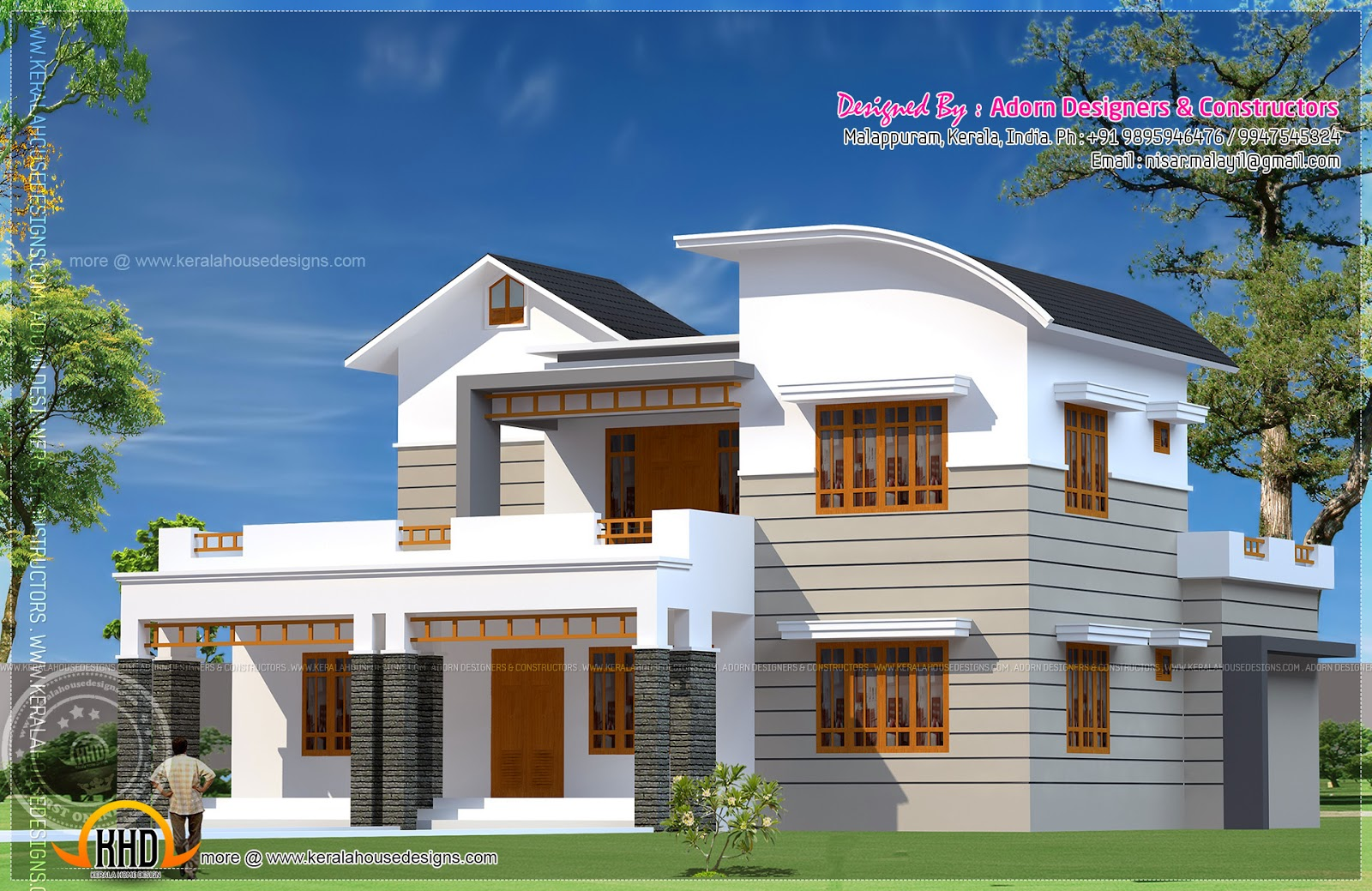 5 bedroom house exterior kerala home design and floor plans for 5 bedroom house interior design