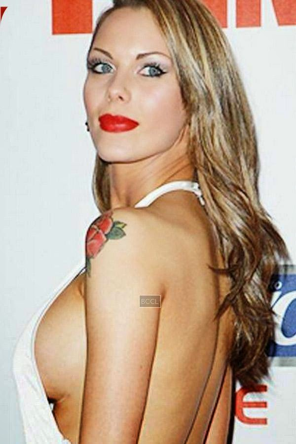 Jessica Jane Clement showed more than probably what was desired during FHM's annual poll party in London.