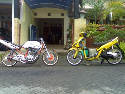Matic | Matic Drag Bike: Motor Drag Yamaha Mio Matic Duel with Honda