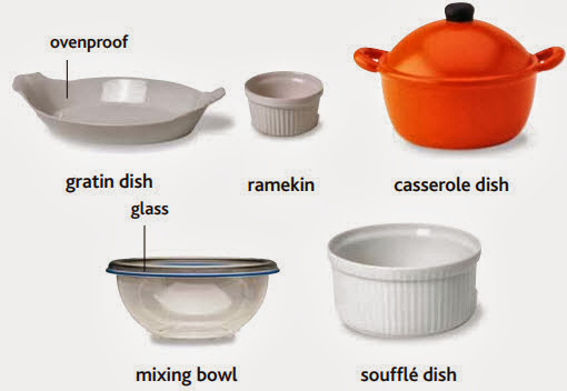 ovenproof, gratin dish, ramekin, casserole dish, mixing bowl, souffle dish
