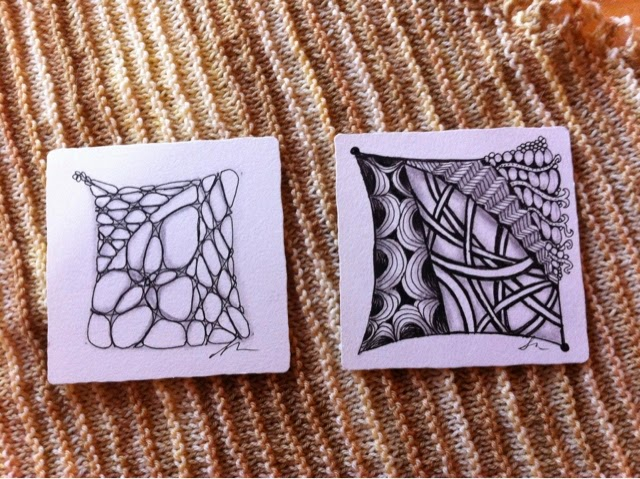 Zentangles by Feather of Crescent Moon Collective