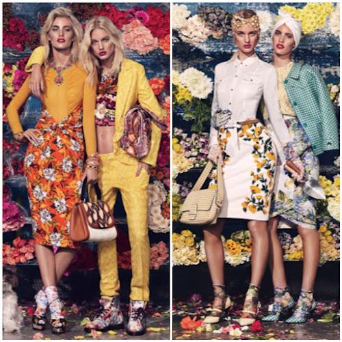 Floral Wallpaper Fashion Runway Lookbook Style